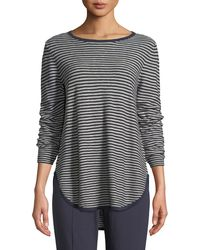 Eileen Fisher - Linen-blend Slub Top - Lyst