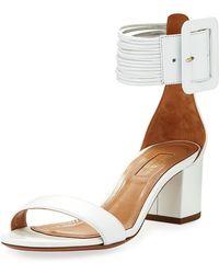 Aquazzura - Casablanca 50mm Leather Ankle-strap Sandal - Lyst