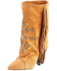 Isabel Marant - Lesten Santa Fe Embroidered Boot - Lyst