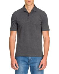 Isaia - Washed Piqué Polo Shirt - Lyst