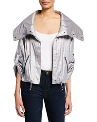 Anatomie - Casey Metallic Cropped Jacket - Lyst
