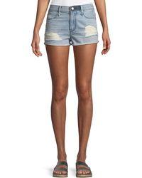 RTA - Ace Distressed Cutoff Denim Shorts - Lyst