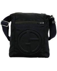 Giorgio Armani - Men s Logo-embossed Crossbody Bag - Lyst 17b8de49acefe