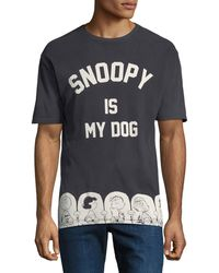 ELEVEN PARIS - Men's Peanuts Snoopy Graphic T-shirt - Lyst