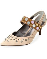 Bottega Veneta - Runway Mary Jane Jeweled Pumps - Lyst