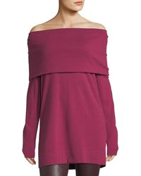 Lafayette 148 New York | Cozy Wool Flannel Off-the-shoulder Sweater | Lyst