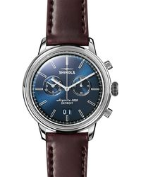 Shinola - Men's 42mm Bedrock Chronograph Watch - Lyst