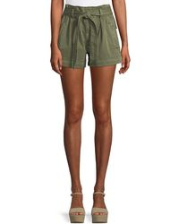 Ella Moss - High-waist Belted Paperbag Shorts - Lyst