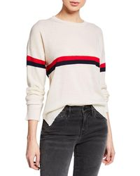 Sundry - Striped Wool-cashmere Crewneck Pullover Sweater - Lyst