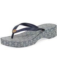 6d9a2e39634 Lyst - Tory Burch  jelly Bow Thong  Embossed Flip Flops in Pink
