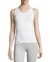 58ae9e5a00 Lyst - Eileen Fisher Fisher Project Scoop-Neck T-Back Silk Tank in White