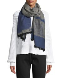 Eileen Fisher - Organic Cotton Reversible Jacquard Scarf - Lyst