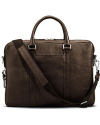 Shinola - Men's Slim Leather Computer Briefcase - Lyst