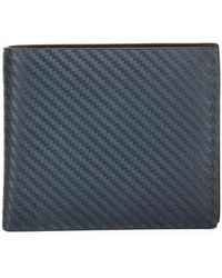 Dunhill - Chassis Leather Billfold Wallet Navy - Lyst
