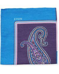 Eton of Sweden - Paisley Linen/silk Pocket Square - Lyst