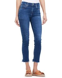 Citizens of Humanity - Rocket Cropped High-rise Jeans With Chewed Hem - Lyst