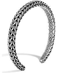 John Hardy - Men's Classic Chain Sterling Silver Slim Cuff - Lyst