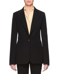 The Row - Limay Single-breasted One-button Crepe Jacket - Lyst