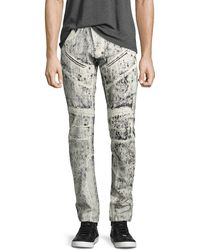 PRPS - Demon Exobiology Heavy Painted Moto Slim-straight Jeans - Lyst