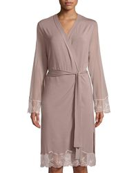 Lise Charmel - Frisson Vegetal Lace-trim Robe - Lyst