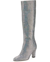 SJP by Sarah Jessica Parker - Studio Sparkle Holographic Knee-high Boot - Lyst