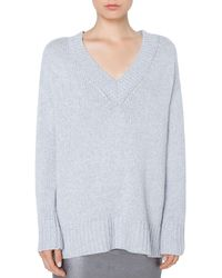 Akris Punto - Oversize Wool/cashmere Sweater With Side Zip Details - Lyst
