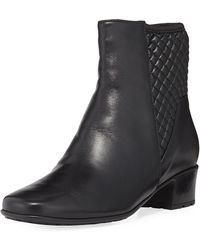 Sesto Meucci - Yvet Quilted Leather Booties - Lyst