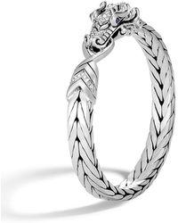 John Hardy - Men's Legends Naga Dragon Silver Medium Bracelet W/ Diamonds - Lyst