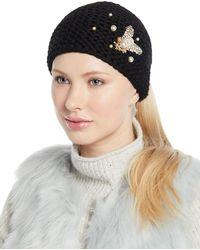 Jennifer Behr - Embellished Bee Knit Head Wrap - Lyst