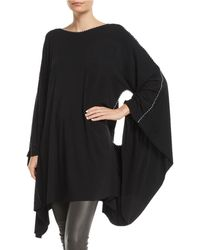 Made on Grand - Hand-painted Cross Batwing-arms Jersey Caftan - Lyst