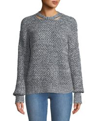 Ella Moss - Delfina Cable-knit Pullover Sweater - Lyst