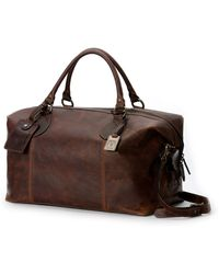 Frye - Logan Men's Leather Overnight Bag - Lyst