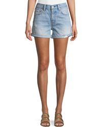Levi's Premium - 501 North Beach Blues Mid-rise Denim Shorts - Lyst