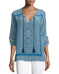 Tolani - Virginia Long-sleeve Printed Tunic - Lyst