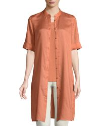 Lafayette 148 New York - Randi Button-front Gemma Cloth Tunic - Lyst