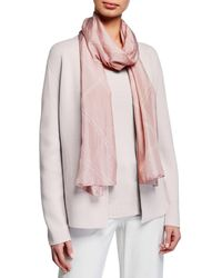Eileen Fisher Silk Shibori Crossings Scarf - Pink