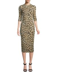 Alice + Olivia - Delora Fitted Mock Neck Dress - Lyst