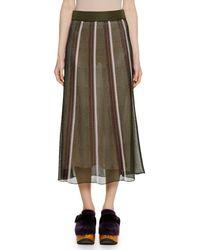 Marni - Open-weave Stripe Knit Ankle-length Skirt - Lyst
