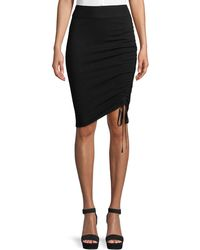 T By Alexander Wang - Ruched Merino Wool Pencil Skirt - Lyst