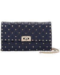Valentino   Rockstud Spike Quilted Napa Leather Wallet On Chain   Lyst