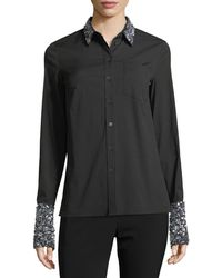 Michael Kors - Sequined French-cuff Shirt - Lyst