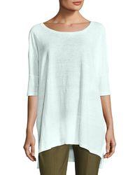 Eileen Fisher - Organic Linen Jersey Boxy Tunic - Lyst