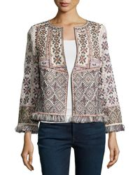 Calypso St. Barth - Bernati Embroidered Fringed Jacket - Lyst