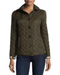 Burberry Brit - Ashurst Diamond-Quilted Jacket - Lyst