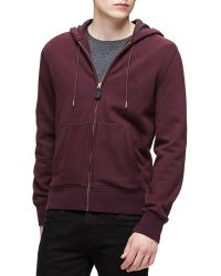 Burberry Brit - Woven Zip-front Hooded Sweatshirt - Lyst