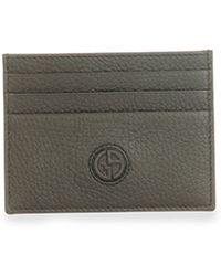 Giorgio Armani - Textured Leather Card Holder - Lyst