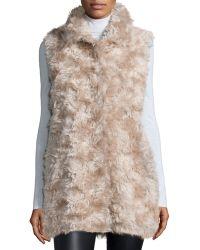 Sofia Cashmere - Mohair Hidden-placket Vest - Lyst