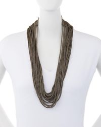 Eileen Fisher - Sparkle Knit Scarf Necklace - Lyst