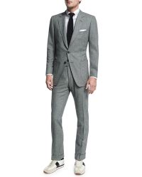 Tom Ford - Buckley Base Flannel Houndstooth Two-piece Suit - Lyst