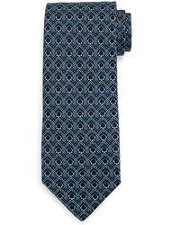Ferragamo - Large-gancini Print Silk Tie - Lyst